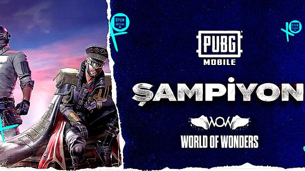 TESFED Türkiye Kupası PUBG Mobile Şampiyonu WOW Oyun Arşivi