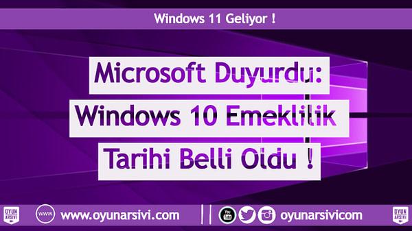 windows 10 emeklilik OA